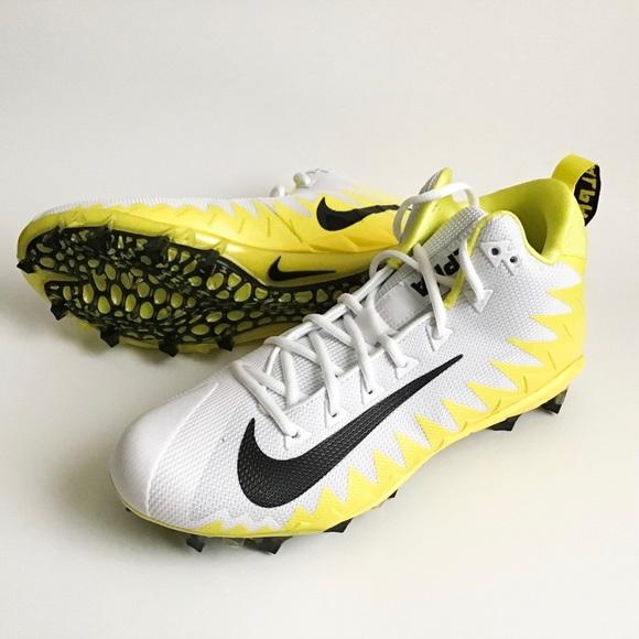 NWOB Nike Alpha Menace Football Cleats yellow